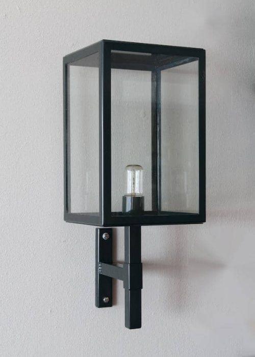 Buitenverlichting vierkant zwart Rio 2016 wandlamp